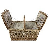 4-Person 2-Lidded Rectangular Hamper