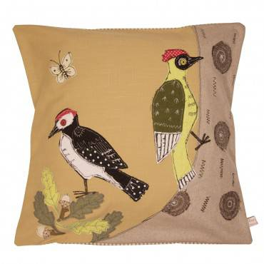 Woodpeckers - Embroidered Cushion